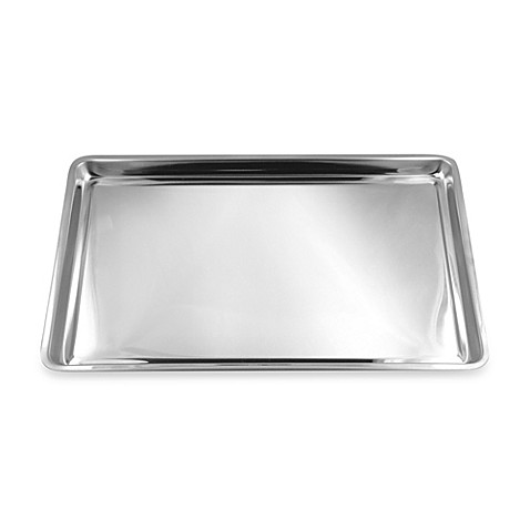 Stainless steel jelly roll pan cookie sheet
