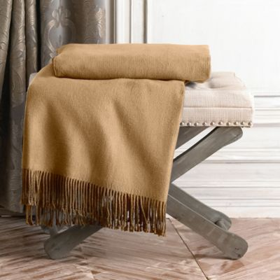 Waterford® Linens Connemara Throw in Camel