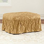 Sure Fit® Matelasse Damask Ottoman Cover