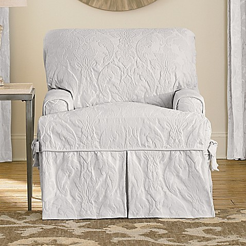 Buy Sure Fit 174 Matelasse Damask T Cushion Chair Slipcover