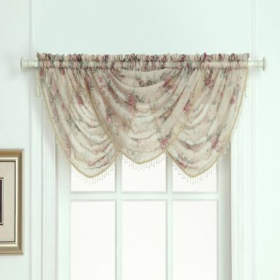 Laura Ashley® Stowe Window Curtain Waterfall Valance