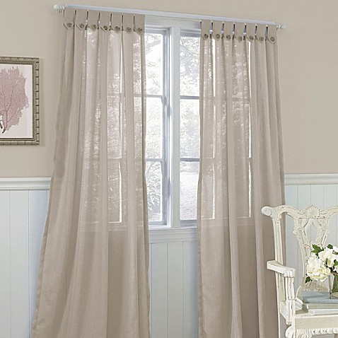 Laura Ashley® Easton Button 42-Inch x 84-Inch Decorative Window Panel in Taupe