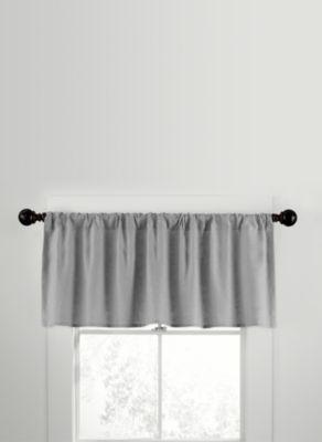 CityLinen Linen Rod Pocket Window Curtain Valance in Gray
