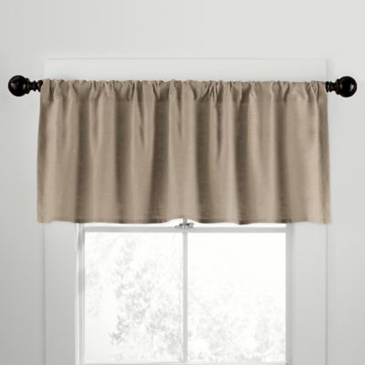 CityLinen Linen Rod Pocket Window Curtain Valance in Pearl