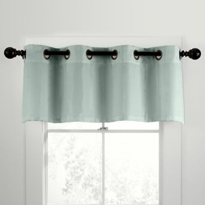 CityLinen Linen Grommet Window Curtain Valance in Gray