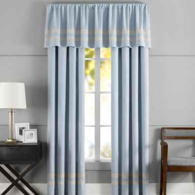 Hotel Window Valance in Blue
