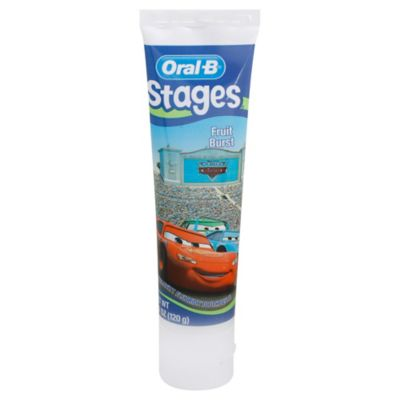 Oral-B® Stages Cars 4.2 oz. Toothpaste in Fruit Burst Flavor