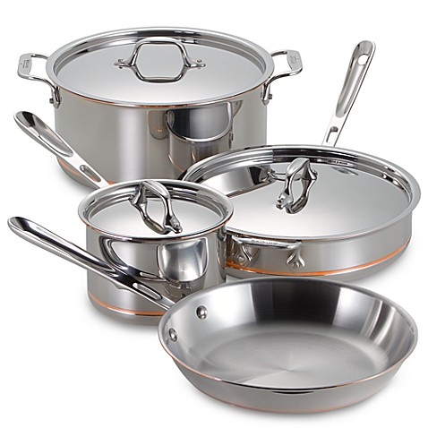 All Clad Copper Core 7 Piece Cookware Set And Open Stock