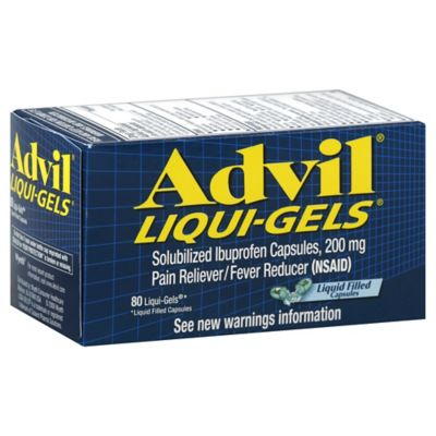 Advil® Liqui-Gels® 80-Count 200 mg Pain Reliever/Fever Reducer Liqui-Gels