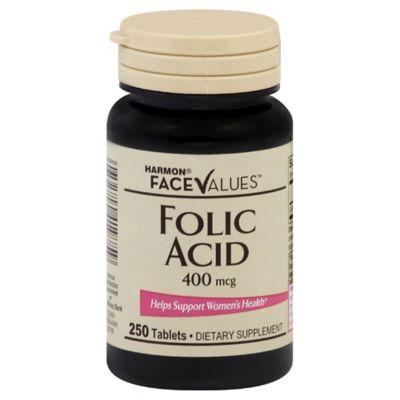 Harmon® Face Values® 250-Count 400 mcg Folic Acid