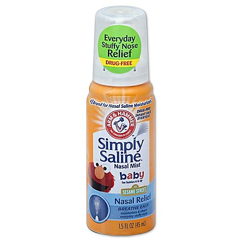 Arm Amp Hammer 174 Simply Saline 174 1 5 Oz Baby Nasal Mist Bed