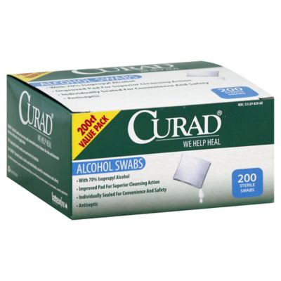 Curad® 200-Count Alcohol Swabs