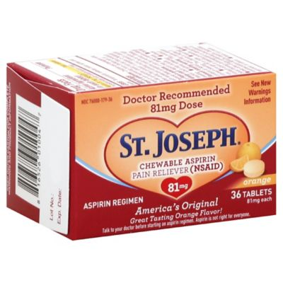 St. Joseph® 36-Count Chewable Aspirin Tablets in Orange