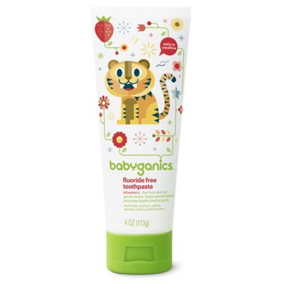 Babyganics® 4 oz. Fluoride Free Strawberry Toothpaste