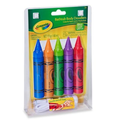 Crayola® 5-Piece Bathtub Body Doodlers Plus Washcloth