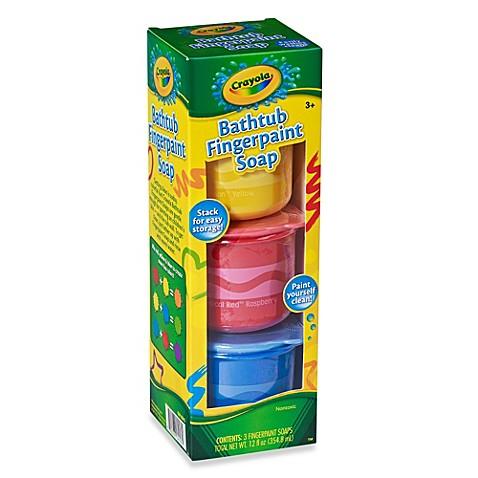 Crayola 174 Bathtub 3 Pack Fingerpaint Soap Bed Bath Amp Beyond