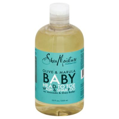 Shea Moisture 12 oz. Olive & Marula Baby Head-to-Toe Wash & Shampoo