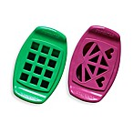 FunBites® 2-Piece Shaped Food Cutter Set in Green Squares/Pink Hearts