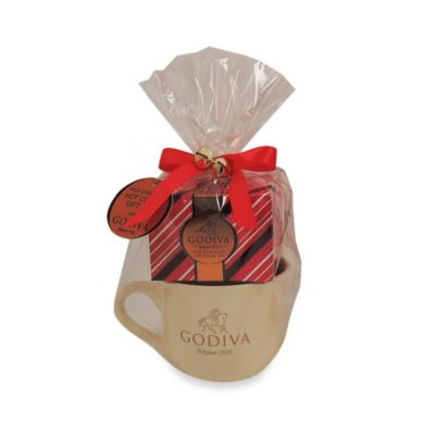 Godiva Holiday Milk Chocolate Hot Cocoa Mug Set