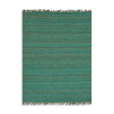 Jaipur 4-Foot x 6-Foot Rugged Jute Rug in Cool Aqua