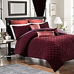 Velvet Washed Silk European Pillow Sham in Bordeaux