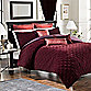 Velvet Comforter and Sham Set in Bordeaux