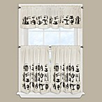 Tea Time Window Curtain Valance in Black