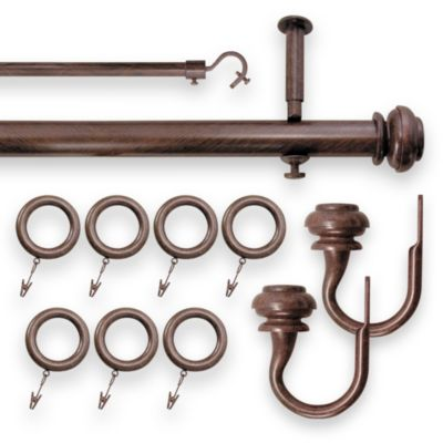 Revel 28-Inch to 48-Inch Adjustable Rod Set in Brown