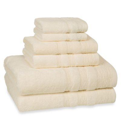 Kassatex St. Germain 6-Piece Turkish Cotton Towel Set in Ivory