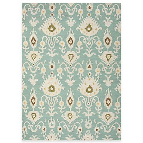 Jaipur Samir Tribal Pattern Rug in Cool Aqua