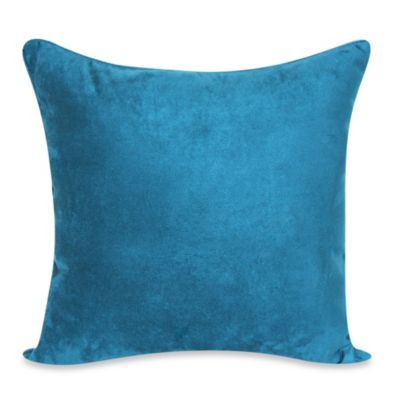 Heavy Faux Suede 20-Inch Toss Pillow in Dark Teal