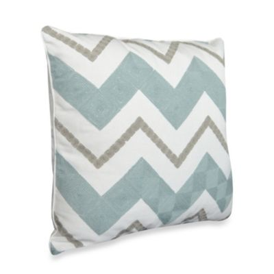 Nostalgia Home™ Hayden Square Embroidered Decorative Pillow