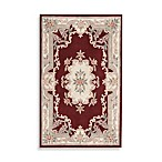 Rugs America New Aubusson Rug in Burgundy