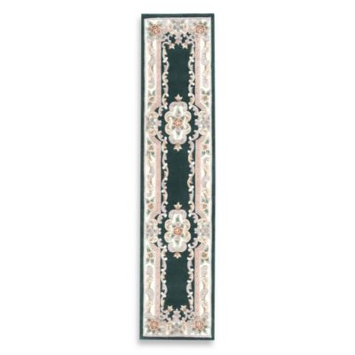Rugs America New Aubusson 2-Foot 3-Inch x 10-Foot Runner Rug in Emerald