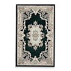 Rugs America New Aubusson Rug in Emerald