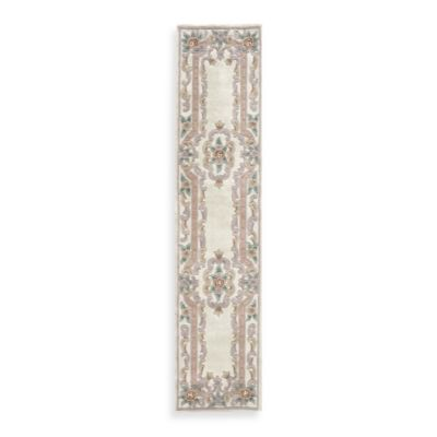 Rugs America New Aubusson 2-Foot 3-Inch x 10-Foot Runner in Ivory