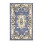 Rugs America New Aubusson Rug in Light Blue