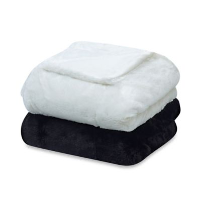 Snowy Soft Oversized Reversible Faux Fur Blanket