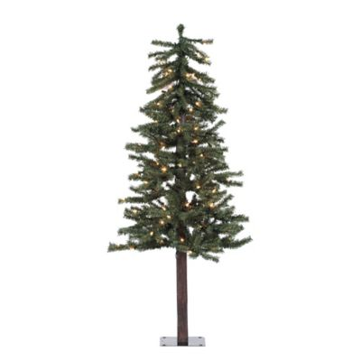 Vickerman 4-Foot Natural Alpine Tree with Clear Lights