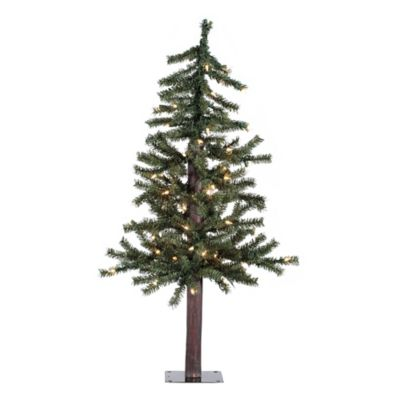 Vickerman 3-Foot Natural Alpine Tree with Clear Lights