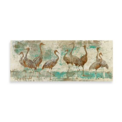 Fabrice de Villeneuve Studio Herons Gather Wall Art