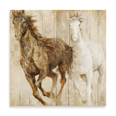 Fabrice de Villeneuve Studio Stallion Charge Wall Art