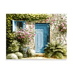 Cottage Door Printed Canvas Wall Art