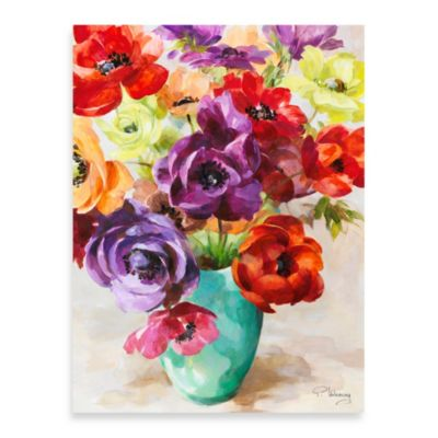 Fabrice de Villeneuve Studio Blooming Bouquet Printed Canvas Wall Art