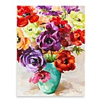 Blooming Bouquet Printed Canvas Wall Art