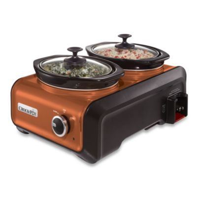 Crock-Pot® 1-Quart Oval Hook Up™ Connectable Entertaining System in Copper