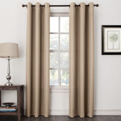 """Swerve Solid Grommet 84"""" Window Panel in Charcoal"""