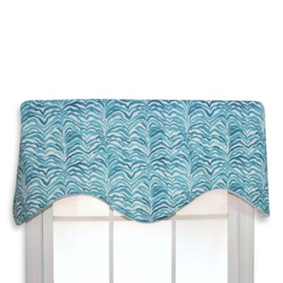 RL Fisher 50-Inch x 16-Inch Kinshasa Cornice Valance in Seaside Blue