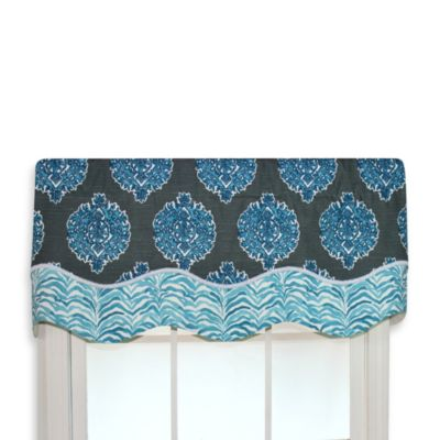 RL Fisher Luanda Glory Valance in Seaside Blue