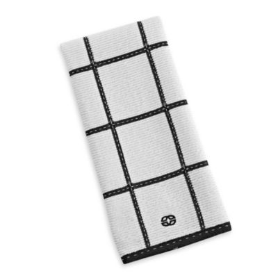 Calphalon Plaid Kitchen Towel in Black
